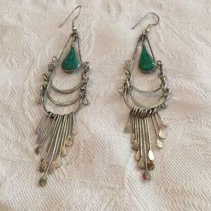 💃Awesome Estate Bohemian Style Silver Earrings 💃